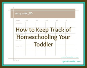 Track Toddler Homeschooling Calendar