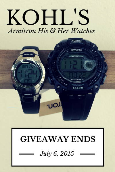 Kohl's Armitron His & Her Watches Review and Giveaway #MakeYourMove