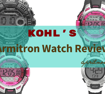 Workout with Armitron Women's Watch from Kohl's {#Giveaway}
