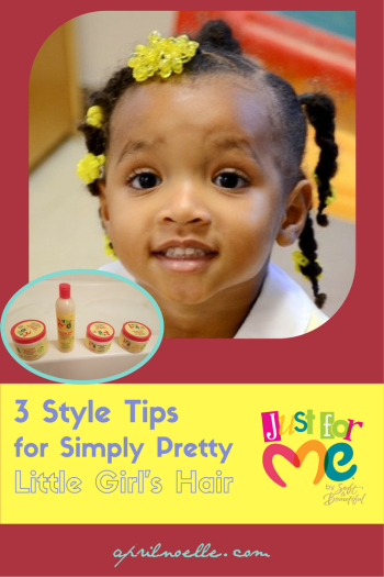 3 Style Tips for Simply Pretty Little Girls Hair | #justformehairjustforme | AprilNoelle.com | #ad