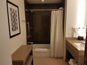 Bathroom at the Hyatt House Atlanta/Downtown | AprilNoelle.com