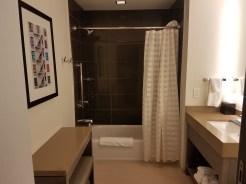 Bathroom at the Hyatt House Atlanta/Downtown | AprilNoelle.com