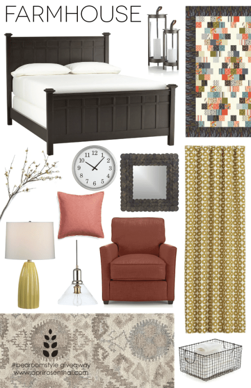 Farmhouse Style #bedroomstyle giveaway www.aprilrosenthal.com