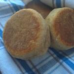 Whole Wheat Sourdough English Muffins