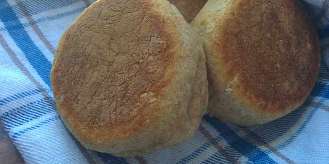 Whole Wheat Sourdough English Muffins