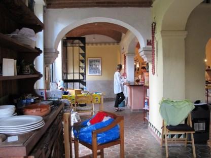 Liz in the kitchen