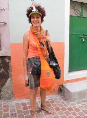 Christiane in Orange