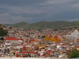 Guanajuato with th yellow basilica