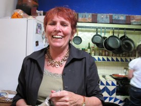 Susan in the kitchen