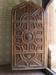 wooden church door
