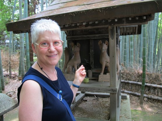 Karen's Inari shrine in the blue bamboo