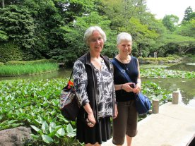 Florence and Karen in the Heian Garden