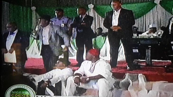 Orubebe Disrupts Jega's Poll Results Announcement