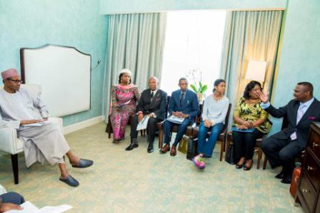 Buhari Meets Nigerian Professionals In America