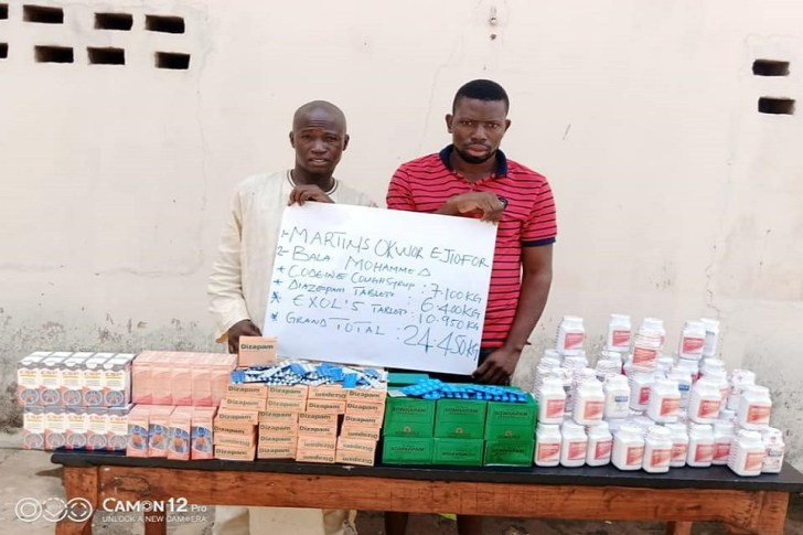Bandits arrested with illegal drugs