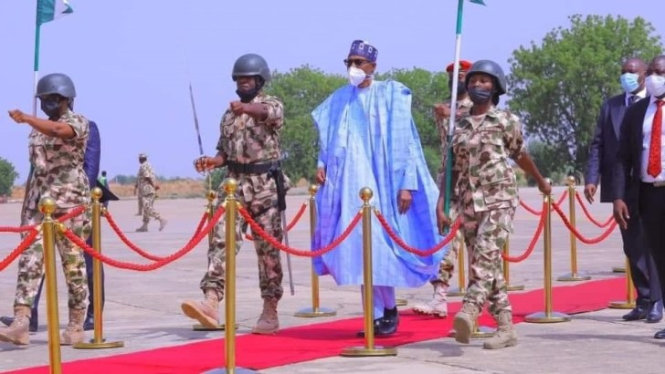 Give No Breathing Space To Terrorists, Criminals, President Buhari Tells Military, Security Agencies