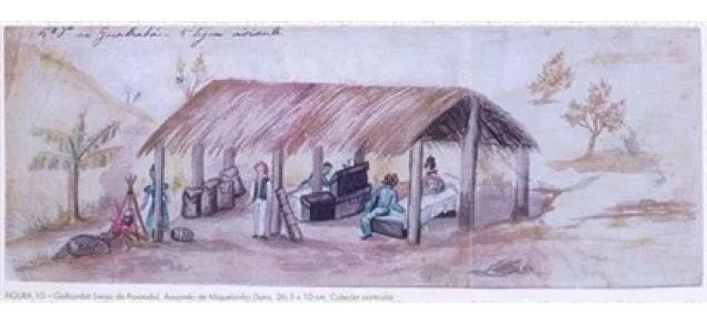 Gualhabá ou Galhambá, Pouso de Tropas