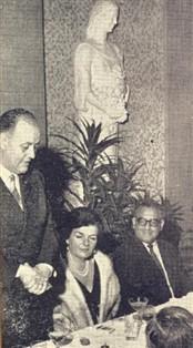 recepcionados com um grande jantar, oferecido pelo casal Mario Dedini.