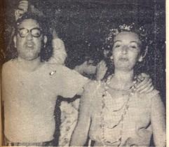 O prefeito Salgot e sua esposa