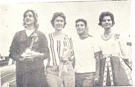 Silvia Hage, Marina Dinnuci, rainha e princesa do 2º Circuito; Roseli anto e Cleide Jardim.