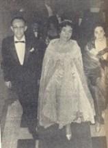 Maria Inez, ladeada por seus pais, Sr. E Sra. Octamiro Garcia do Nascimento