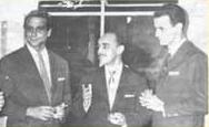 Armando Dedini, Mauro Vianna(Marco Aurélio) e o jogador de basquete Paula Motta