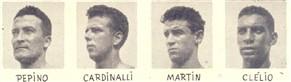 Destes quatro, destacou-se Cardinalli, que chegou mesmo a ser considerado pela critica como um dos melhores zagueiros do campeonato. Clélio atuou bem. Martin e Pepino pouco Jogaram, mas quando o fizeram foi com acerto