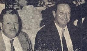 Com. Luciano Guidotti, snra. Virgolino (Carmen) de Oliveira e dr. Adhemar Spallini