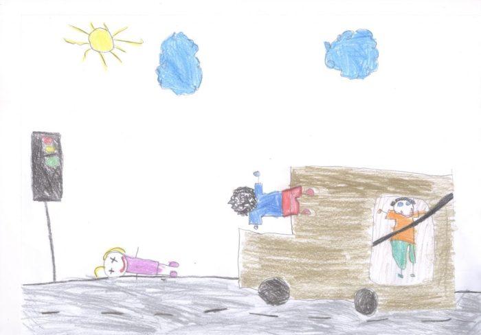 1 Lugar – Desenho Infantil – de Samar Kaleb Nascimento da escola Prof. Getulio Dornelles Vargas