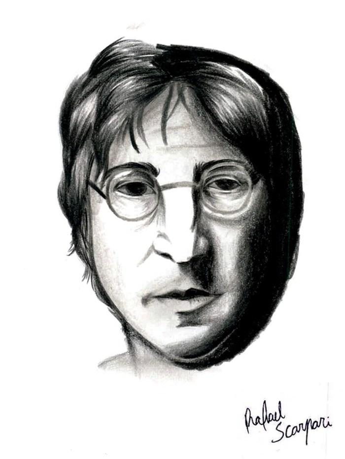 John Lennon pelos traços de Rafael Scarpari