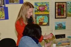 A coordenadora de ensino de arte no município, Rosilda Puszczynski Ferreira, também participou das atividades realizadas.