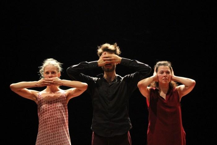 Luiza Banov, Ametonyo Silva e Nadya integram espetáculo – Foto Pedro Henrique Chaves – GESTOS TRANSITANTES PROAC