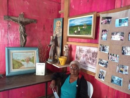 Dona Joana Maria de Jesus foi vizinha de Frei Sigrist. (foto: Prefeitura Municipal)