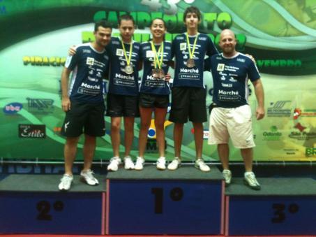 Equipe Durante Premiação do Campeonato Brasileiro de Tênis de Mesa