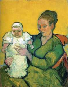 Mother Roulin with Her Baby - Vincent Van Gogh - 1888