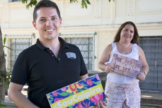 Curadores incentivam visitantes a usarem hashtag SouCapira nas redes sociais - foto Rodrigo Alves