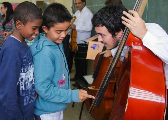 Até novembro, 21 unidades de ensino recebem Música nas Escolas - foto Rodrigo Alves