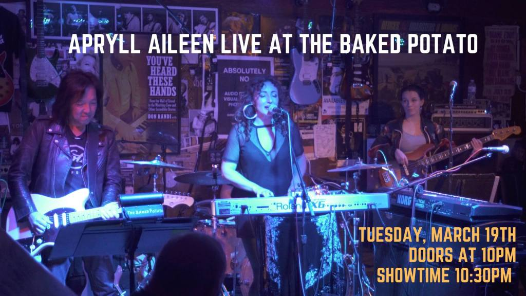 APYLL AILEEN - TONIGHT AT THE BAKED POTATO JAZZ CLUB! - Apryll Aileen