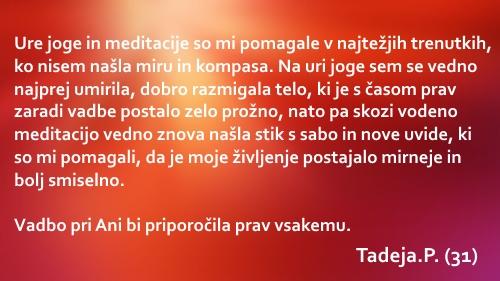 Joga priporocilo Tadeja
