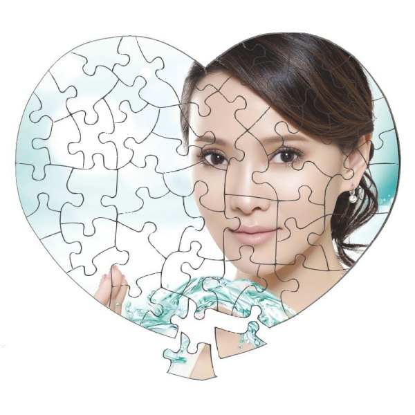 custom printed heart shaped puzzle