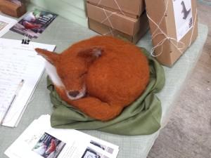 Jenny Barnett's fantastic felt fox