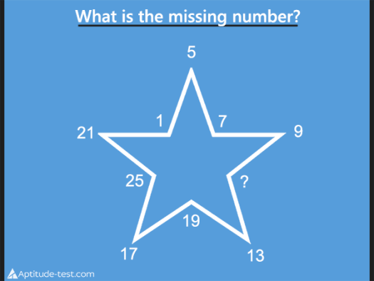 What is the missing number? Find the missing number in this number series test question.