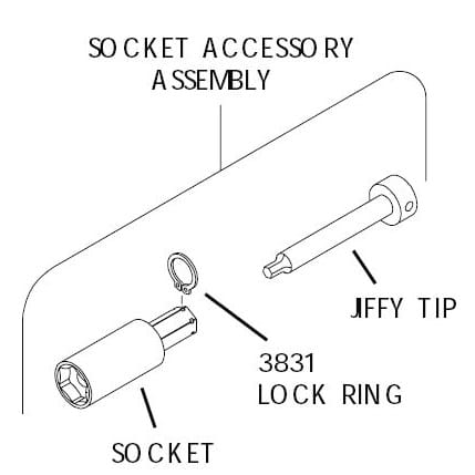 Jiffy Air Tool Part Hex bits, Circlips & Sockets