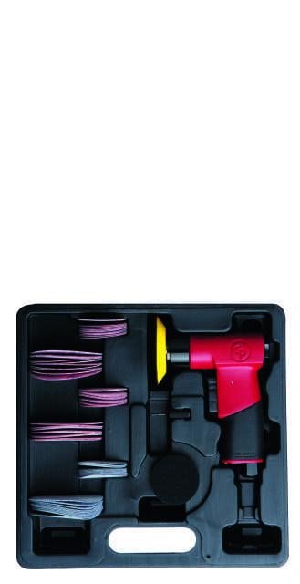 CP 7200S Chicago Pneumatic mini pistol orbital sander kit
