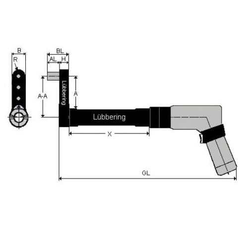 Lubbering Aster installation tool for ASTER®-A5L™ - 8 Key Hex Bo