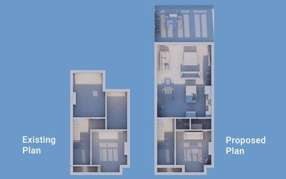 house extension architectural plan design
