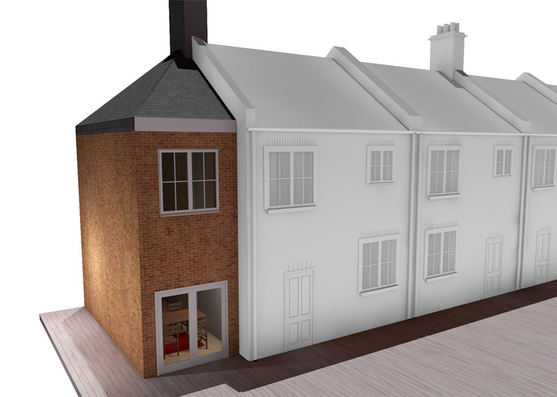 double storey side extension london