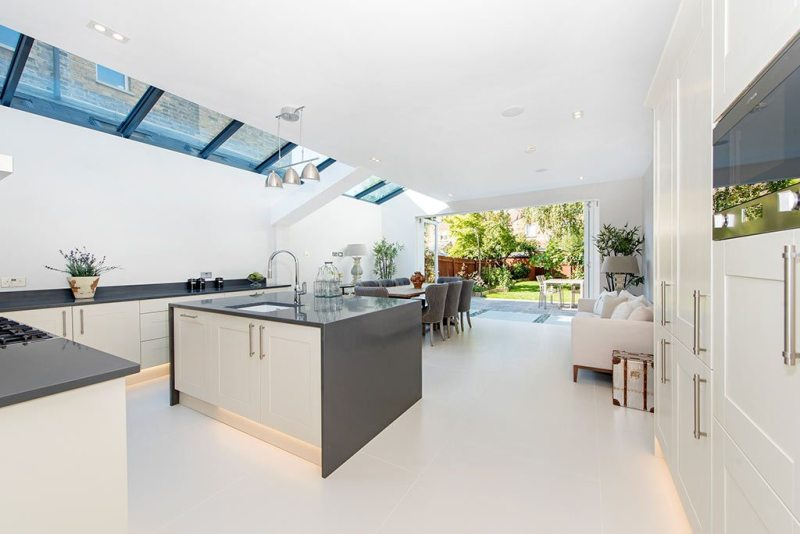 kitchen and house extension