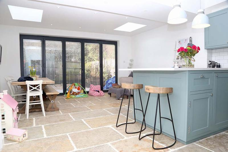rear house extension project