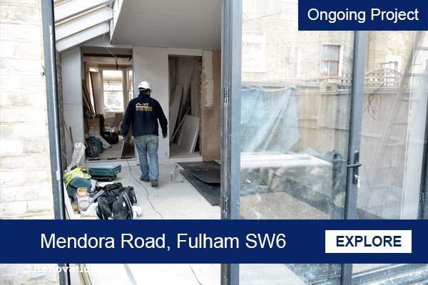 Rear house extension in Fulham sw6